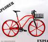 700C aero spoke wheel basket handlebar fixed gear bike