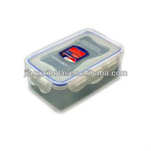 PP small plastic snapware airtight food storage container/rectangular lunch box with lid/preservation box