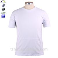 China manufacturing custom white plain t shirt