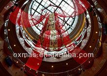 traditional hotel /mall drapery lantern hang festival atrium decoration