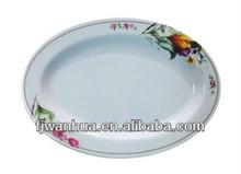 Melamine oval shaped dinner plate