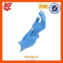 2015 Fashional popular wholesale Customized Plain colors Touch screen Gloves