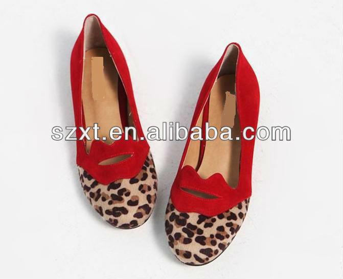 أحدث tpr الوحيد 2013، المواد النمر، المرأة أحذية الباليه المسطحة
