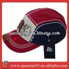 custom-made cotton curve brim black muslim hat and 5 panel baseball cap