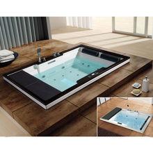 two people massage bathtubs AW-1101 Romantic TV spa tub