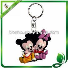 Promotional eco-friendly Rubber Soft PVC keychain