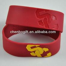 100% silicone silica gel bracelets,silicone wrist strap,carved silicone band