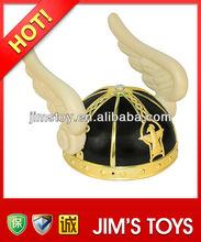 Hot novelty items plastic toy wings helmet