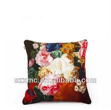 fashion anti-fire floral digital print elegant vintage pillow case in pillow