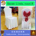 blanco estiramiento spandex cubierta de la silla