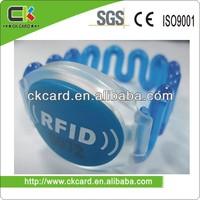 high quality rfid silicone wristband(Ntag203 chip)