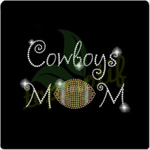 Cowboys MOM football image hotfix motif transfer pattern for garment and hats