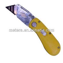 Zinc Alloy Retractable Folding Cutter Knife