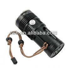SKYRAY king New-M6 Cree 3 x Cree XM-L T6 2000lm 3-Mode White Flashlight - Black (4 x 18650)