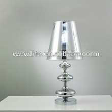 Silver shade and cognac glass pool table lights T1113-1SI