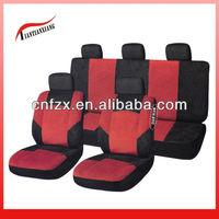 Red & Black Premium Fabric Seat Covers for Car Accessories Dubai