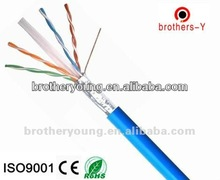 communication cable CAT5E cat6 UTP/FTP 23AWG 0.57MM BARE COPPER/CCA/CCAM FLUKE ROHS,CE,ISO cable company