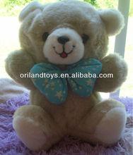 Teddy Bear Plush Baby Blue Star Patterned Bowtie Bear Stuffed Toy
