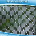 3D películas para ventanas decorativas / de vidrio en 3D la película del vinilo / etiqueta engomada 3D