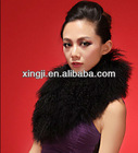 Fashion real natural and black color Mongolian fur collar for jacket