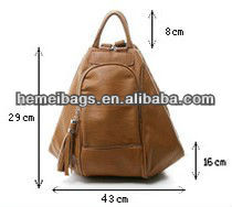 2013 Leather backpack and fashionable bags for girls