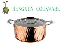 hammered turkish triply copper pot