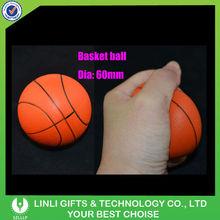 custom PU mini basketball stress ball
