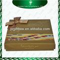 bowknot amarillo famoso chocolate caja de la marca para la venta