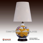 Chinese tradition hand painting light with fabric lamp shade