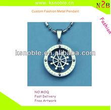 cheap sale round custom logo metal pendants