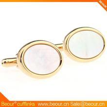 Cufflinks ZB1401 - Mother of Pearl in Oval Gold Frame - Cufflink Manufacturer,ruby cufflinks