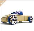 Madeira pickup truck brinquedos/mini carro modelo/deformação da madeira do carro