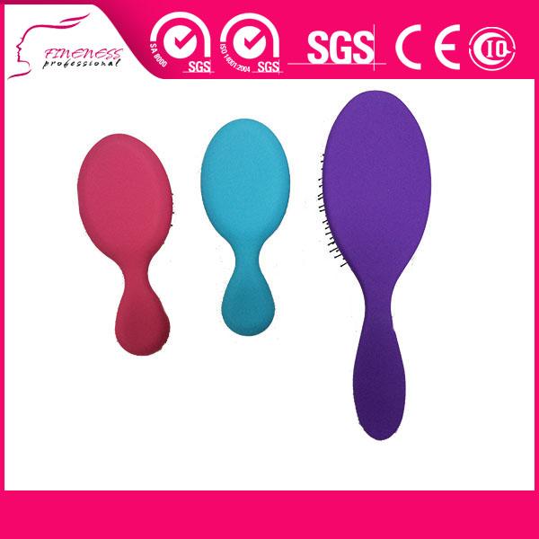 Soft touch detangler jabalí ronda cepillo de pelo plástico