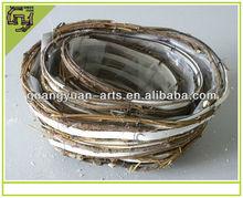 natürliche weidenkorb weiß material
