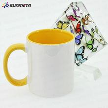 Sunmeta sublimation blanks mug inner rim color mug 11oz---manufacturer