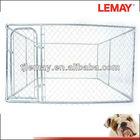 Hot Sale 10x10x6 foot galvanized chain link dog breeding kennel