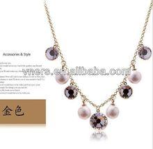 halloween flashing necklacesfashion diamon crystal metal enamel necklaces