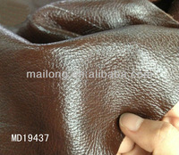 Soft glossy Genuine leather for sofa,car and handbag abrasion resistant