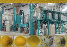 Automatico grano di mais farina di mais macchina fresatrice per l'esportazione