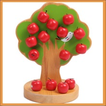 wooden apple tree toys shapes with best quantity
