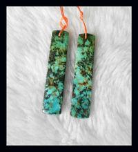 Turquoise Rectangle Earring Beads design earrings,natural earring,natural pendant