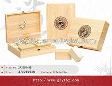 WALNUT WOOD WATCH DISPLAY CASE BOX
