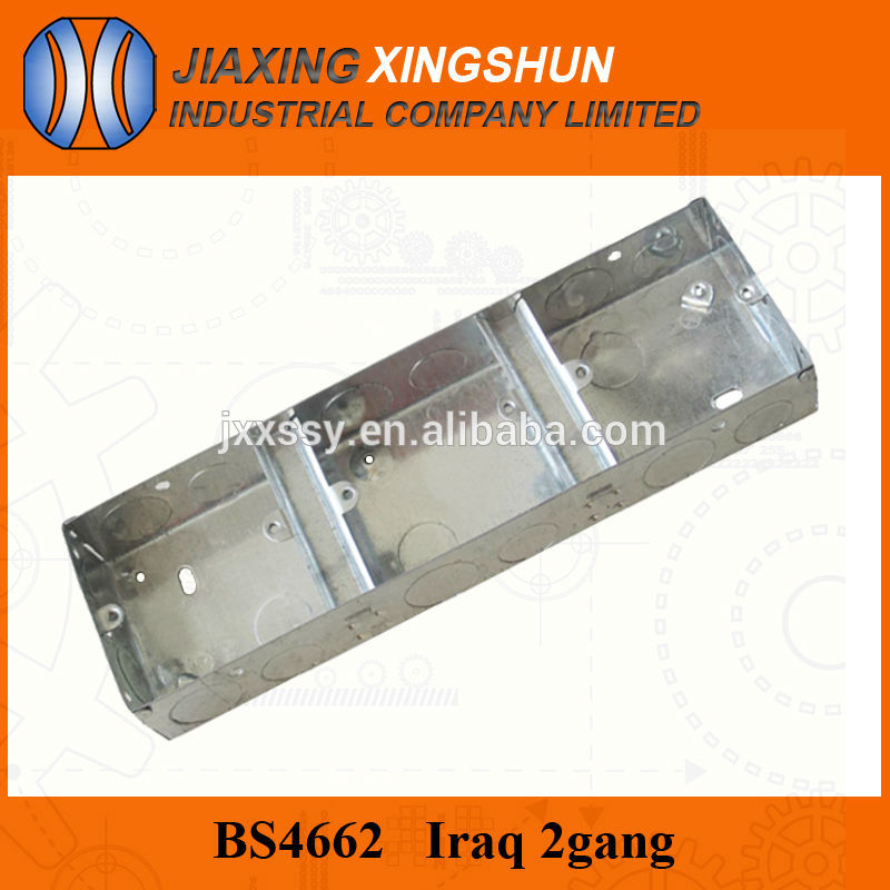 HOT Sale BS 3Gang wall galvanized steel electrical box