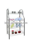 Elegant 4-Tier iron wire dinnerware racks