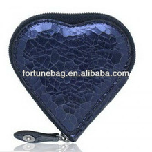 heart shape lady's pu wallet