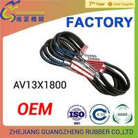 AV13X1800Li automotive rubber cogged v-belt factory AV9.5/10/12.5/13/15/17/22