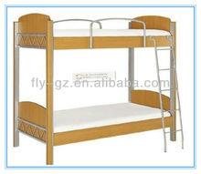 fashion bunk bed for school dormitory furniture/ wood and metal bunk bed school dormitory