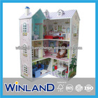 Pretend Play Foldable Toy Wooden Doll House