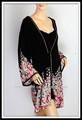dame klassischen gedruckt chiffon kimono dessous transparent robe kleider