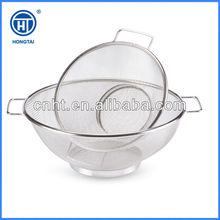 HT 2014 Hot sales stainless steel kitchen mesh colander basket / storage basket